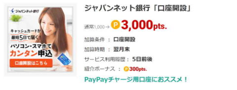 ジャパンネット銀行「口座開設」