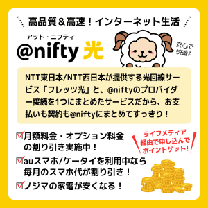 @nifty光を利用するメリット