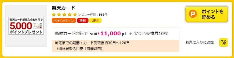 【楽天カード】ハピタス経由で最大18,400円相当還元!(3/17まで)